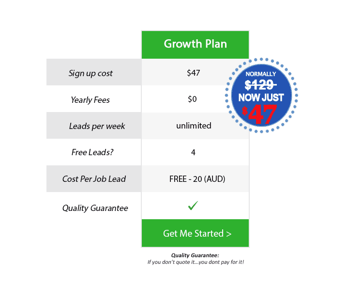 Growth plan sign up