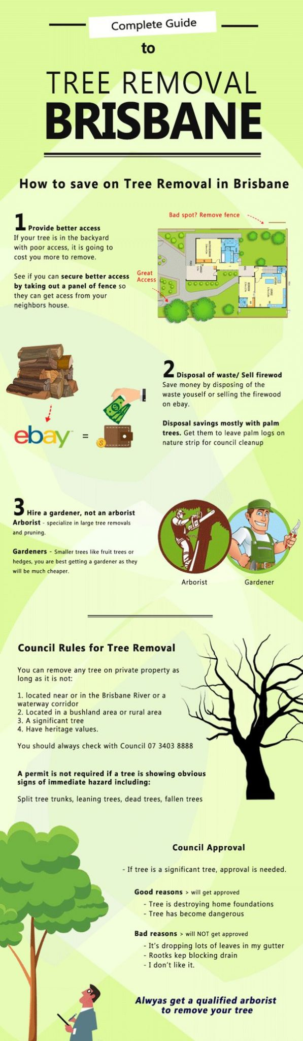 tree removal Brisbane infographic