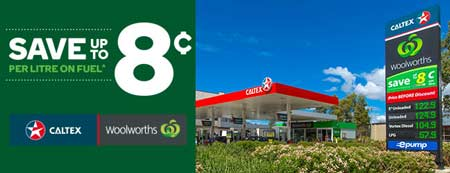 woolies and caltex